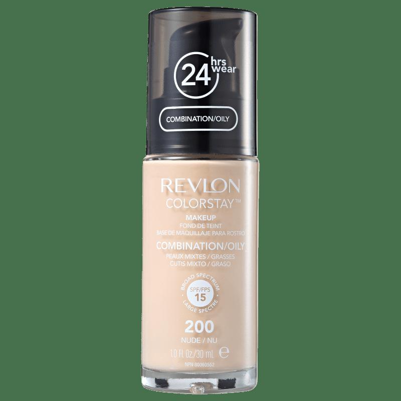 Revlon ColorStay 24 Horas Pele Mista à Oleosa FPS15 200 Nude - Base Líquida 30ml