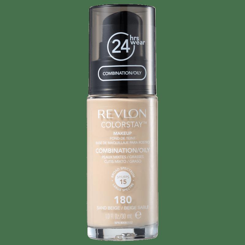 Revlon ColorStay 24 Horas Pele Mista à Oleosa FPS15 180 Sand Beige - Base Líquida 30ml