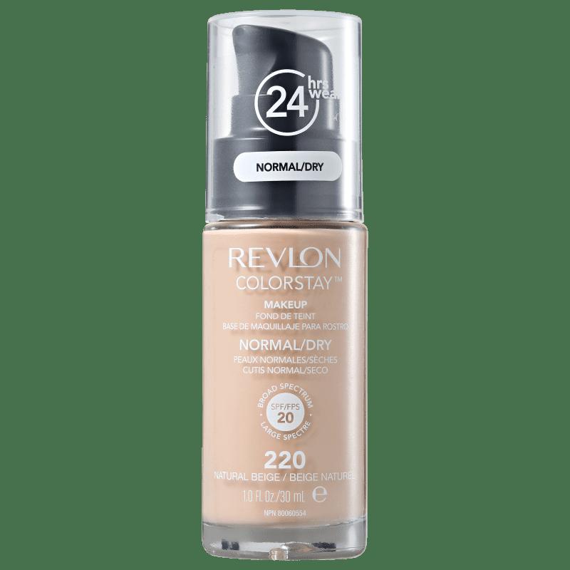 Revlon ColorStay Pele Normal e Seca Natural Beige - Base Líquida 30ml