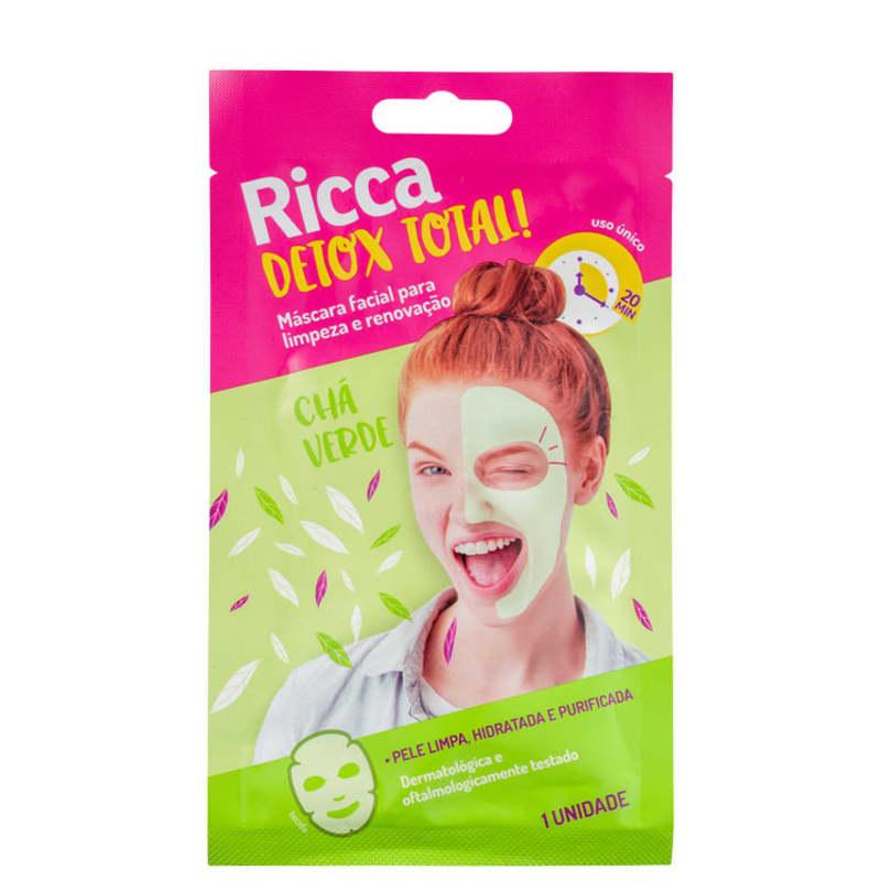 Ricca Detox Total - Máscara de Limpeza Facial (1 unidade)
