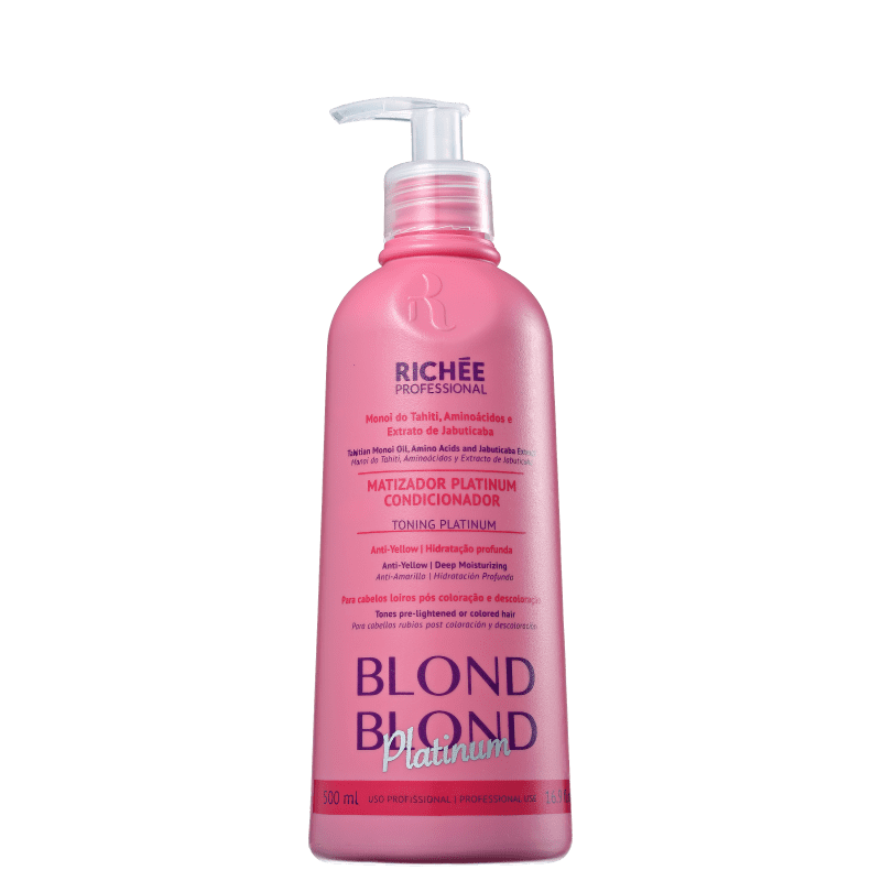 Richée Professional Blond Platinum - Condicionador Matizador 500ml