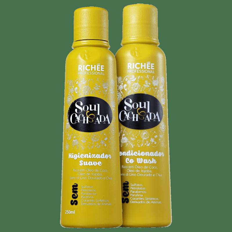 Kit Richée Professional Soul Cacheada Limpeza Condicionante (2 Produtos)