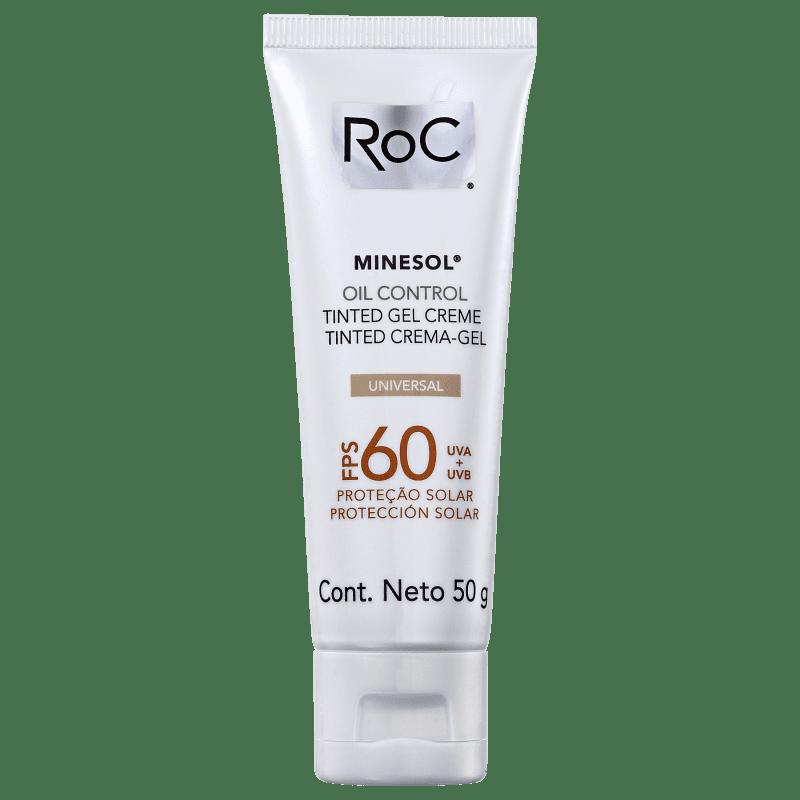 RoC Minesol Oil Control Tinted FPS 60 - Protetor Solar com Cor 50g