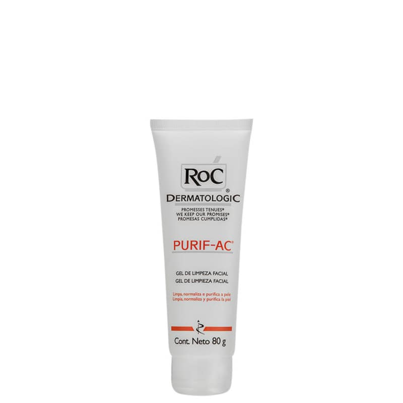 RoC Purif-Ac Cleanser Purifying - Gel Limpeza Facial 80g