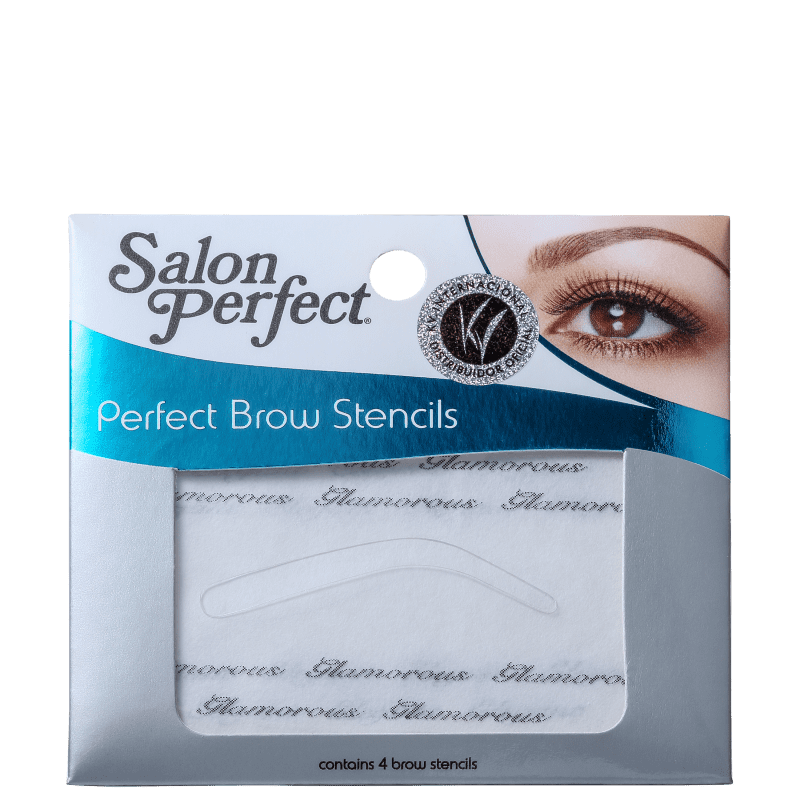 Salon Perfect Brow Stencil - Molde para Sobrancelhas 4un