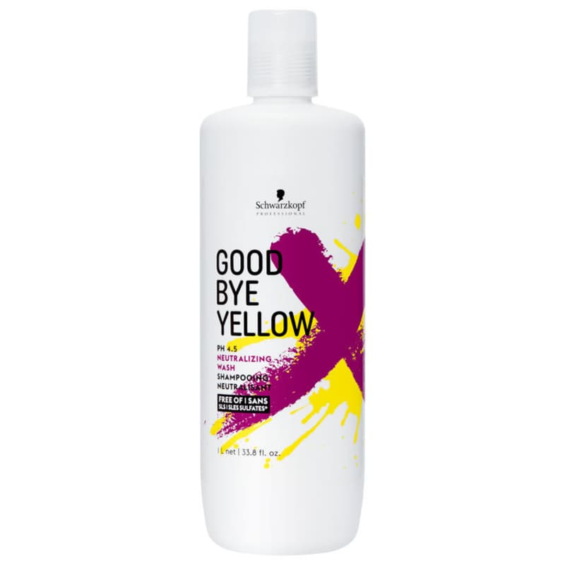 Schwarzkopf Professional Goodbye Yellow - Shampoo Matizador 1000ml