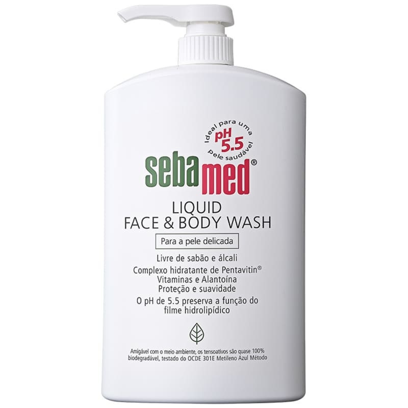 Sebamed Liquid Face & Body Wash - Sabonete Líquido Facial 1000ml
