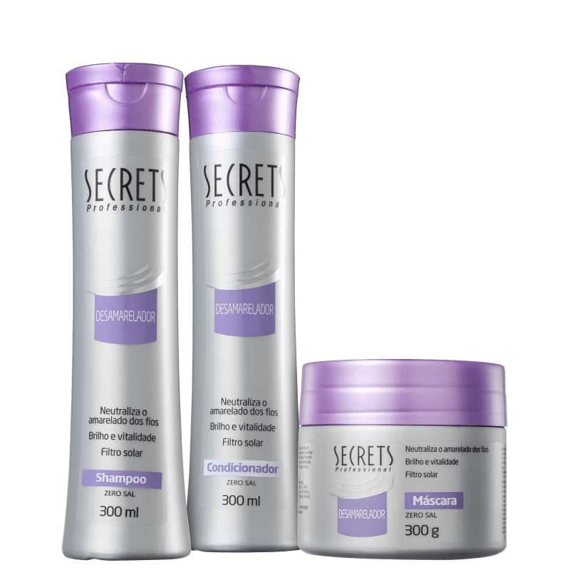 Kit Secrets Professional Desamarelador Tratamento (3 Produtos)