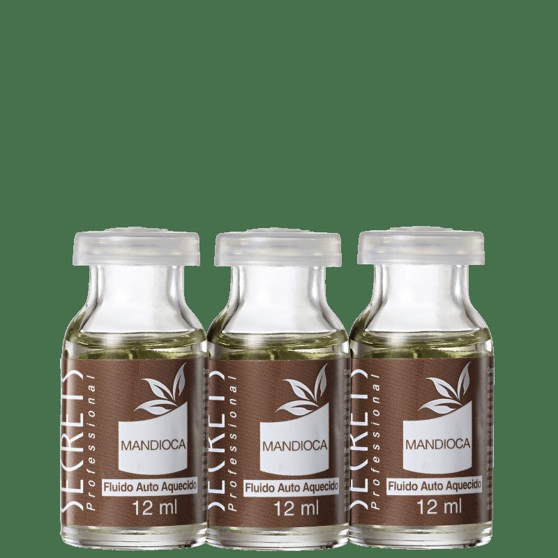 Secrets Professional Mandioca Fluido Auto Aquecido - Tratamento 3x12ml