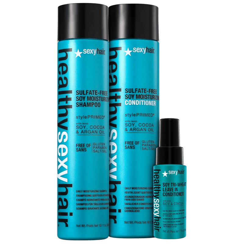 Kit Sexy Hair Healthy Soy Moisturizing Triplo (3 Produtos)