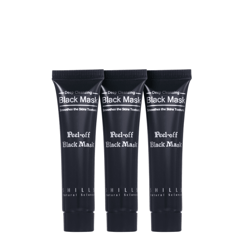 Shills Black Mask - Máscara Removedora de Cravos 3x15ml