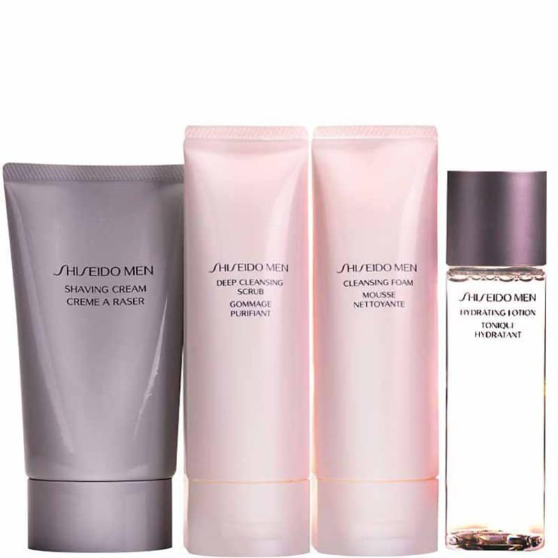 Kit Shiseido Men Clean (4 produtos)