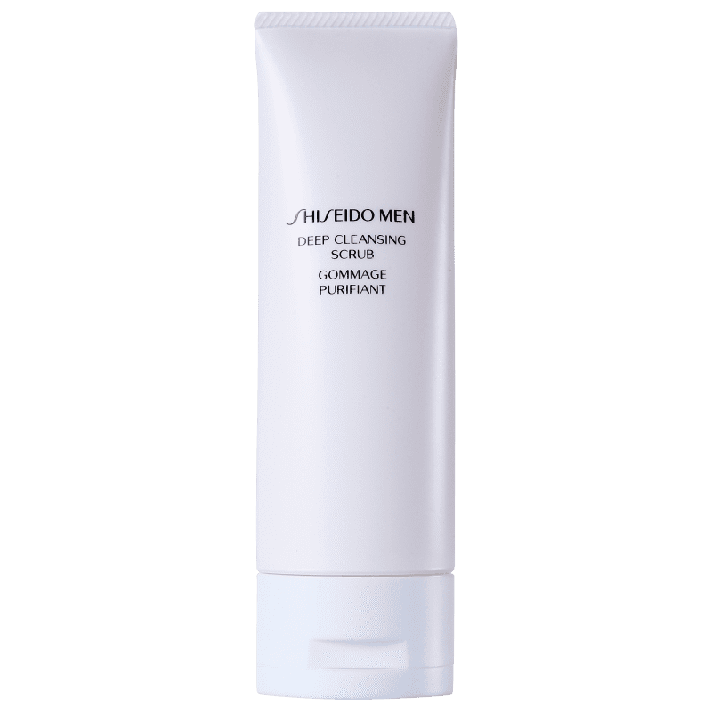 Shiseido Men Deep Cleansing Scrub - Tratamento Esfoliante Facial 125ml