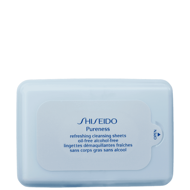 Shiseido Pureness Refreshing Cleansing - Lenço de Limpeza Facial (30 unidades)