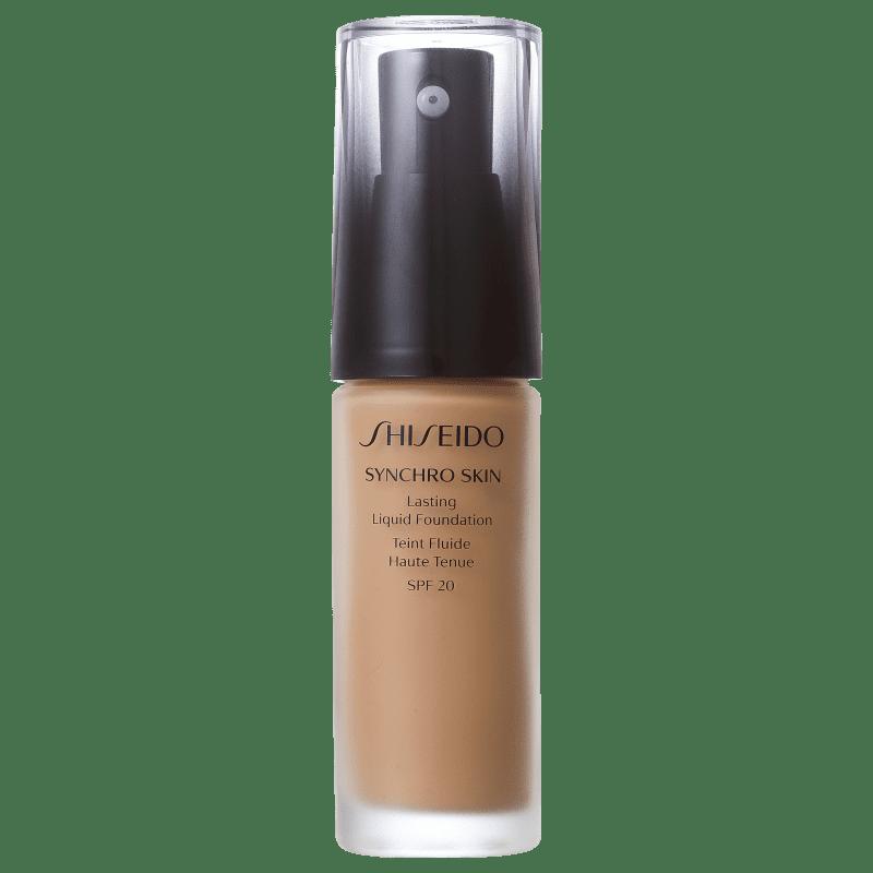 Shiseido Synchro Skin Lasting Liquid Foundation FPS 20 G5 Golden 5 - Base Líquida 30ml