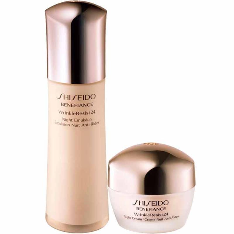Kit Shiseido Benefiance Wrinkle Resist24 Night Treatment (2 produtos)
