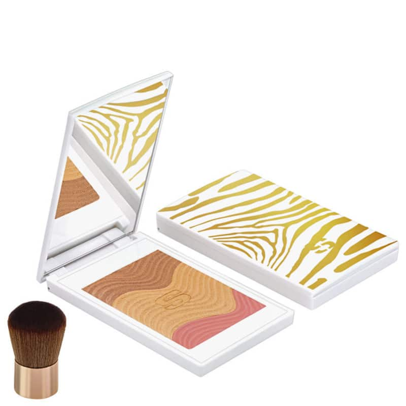 Sisley Phyto-Touche Poudre Éclat Soleil Trio Pêche Dorée - Bronzer e Blush Luminoso 11g