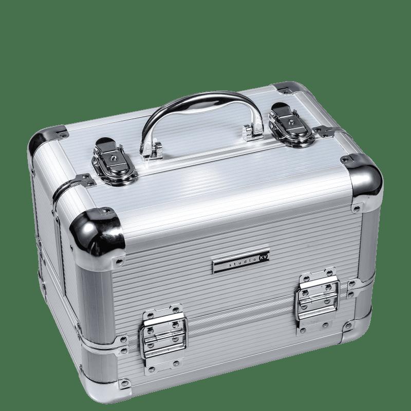 Studio KV HC0043-SL Silver Listrada - Maleta de Maquiagem