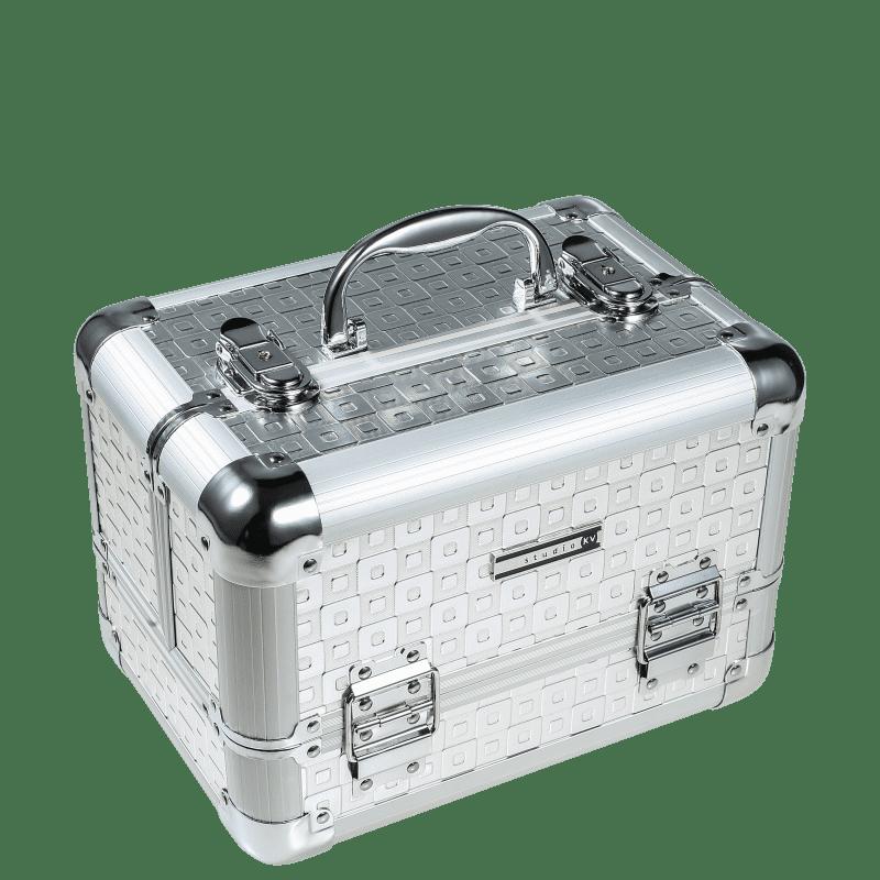 Studio KV HC0043-SQ Silver Quadriculada - Maleta de Maquiagem