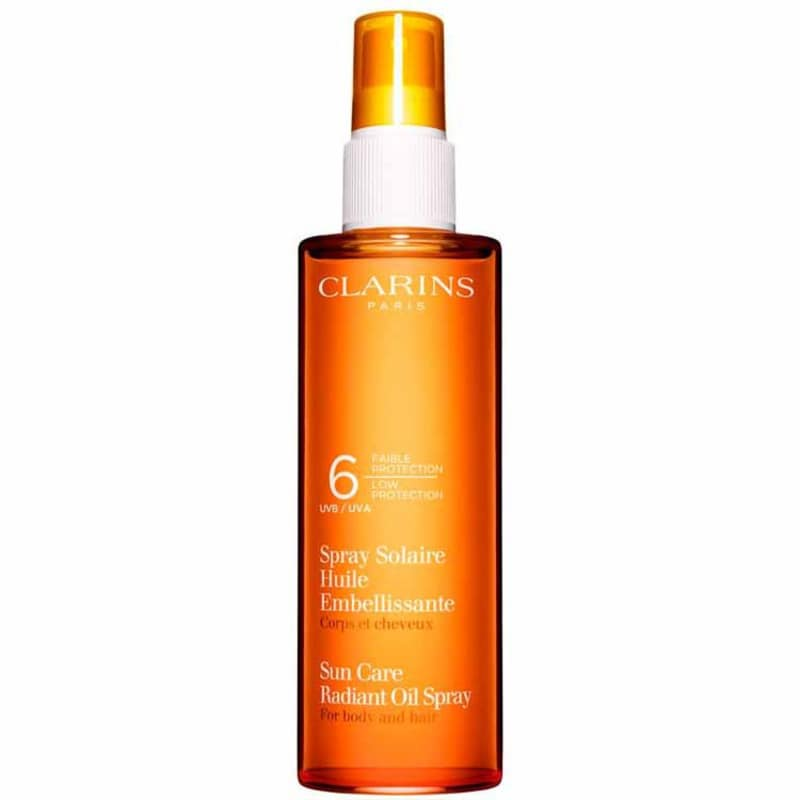 Clarins Sun Care Radiant Oil Spray Spf 6 - Óleo Solar para Cabelo e Corpo 150ml