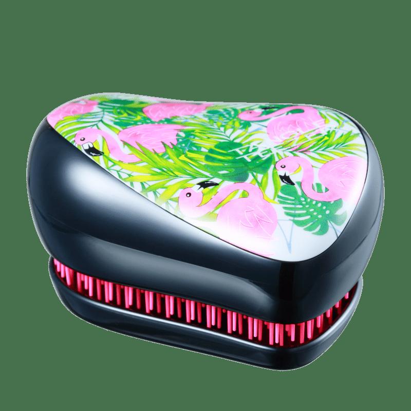 Tangle Teezer Compact Styler Flamingo Preta - Escova de Cabelo