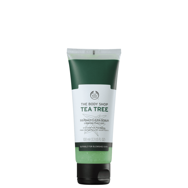 The Body Shop Tea Tree Squeaky-Clean Scrub - Esfoliante Facial 100ml