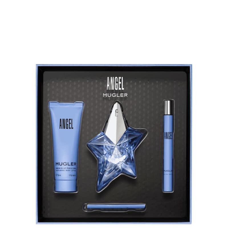 41a8dc801 Conjunto Angel Trio Thierry Mugler Feminino - Eau de Parfum 25ml + Travel  Size 7ml + Loção Corporal 50ml