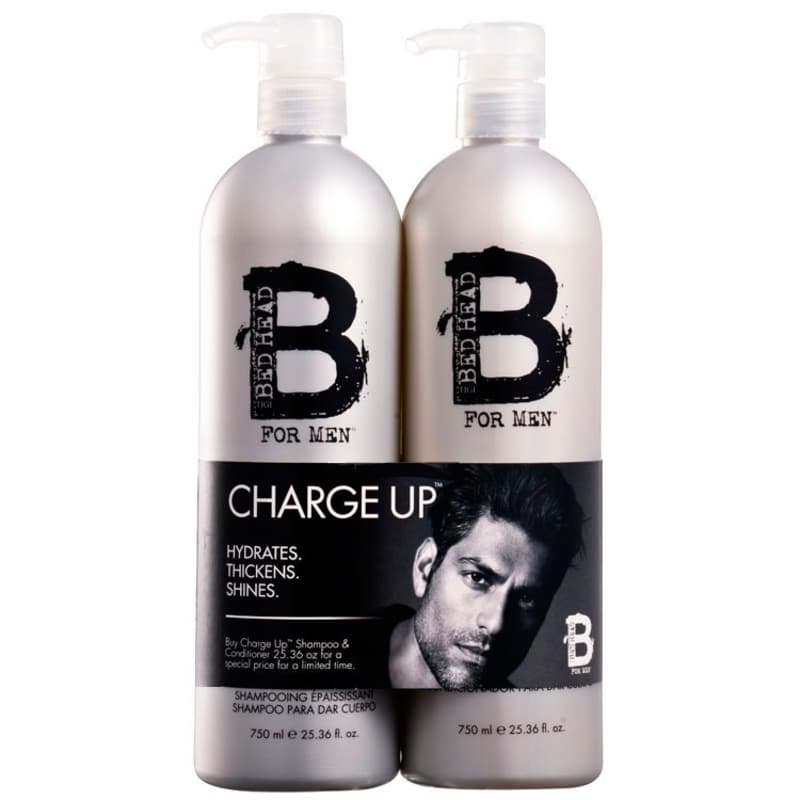 TIGI Bed Head B for Men Charge Up Thickening Duo Kit (2 Produtos)