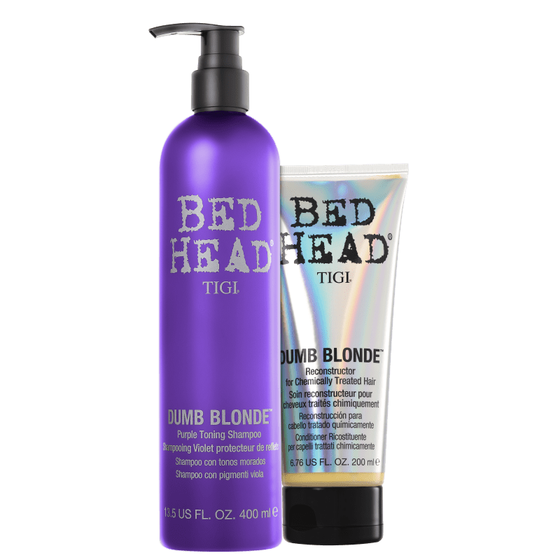 Kit TIGI Bed Head Dumb Blonde Purple Toning Duo (2 Produtos)