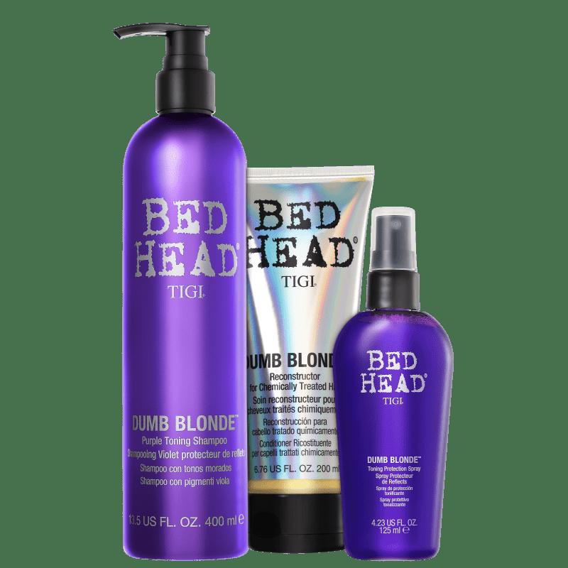 Kit TIGI Bed Head Dumb Blonde Purple Toning Trio (3 Produtos)