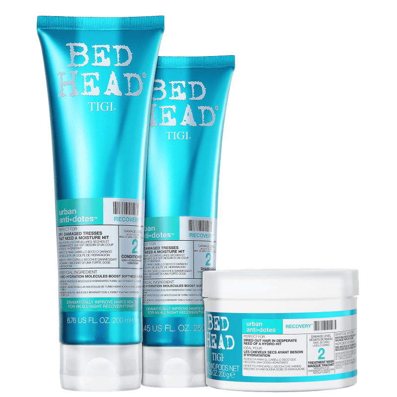 Kit TIGI Bed Head Urban Anti+Dotes 2 Recovery Trio (3 Produtos)