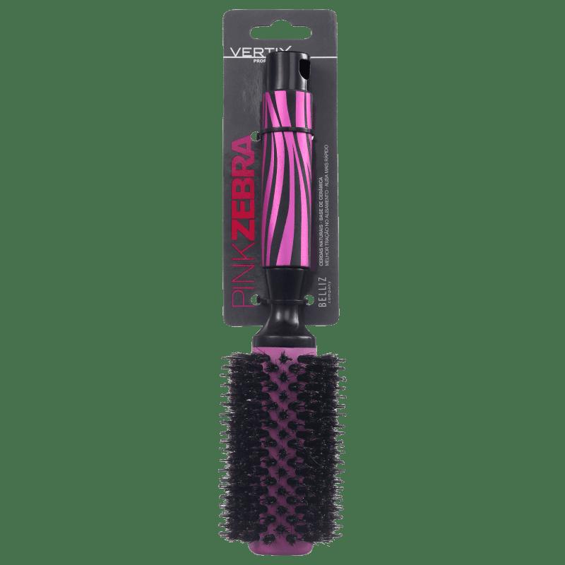 Vertix Pink Zebra Ceramic - Escova Térmica 33mm