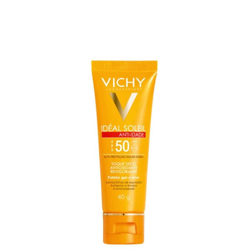 Vichy Ideal Soleil Anti-idade FPS50 - Protetor Solar Facial 40g