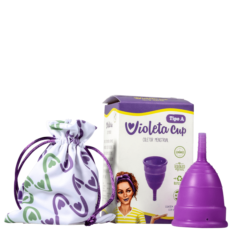 Violeta Cup Violeta Tipo A (+30 anos ou com filhos) - Coletor Menstrual