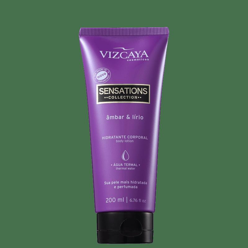 Vizcaya Sensations  Âmbar &amp, Lírio - Creme Hidratante Corporal 200ml