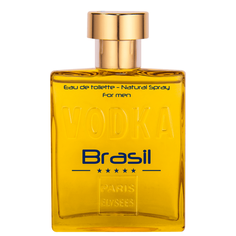 Vodka Brasil Yellow Paris Elysees Eau de Toilette - Perfume Masculino 100ml