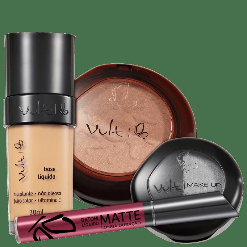 Kit Vult Make Up 03 Bege Duo Soleil Matte (4 Produtos)