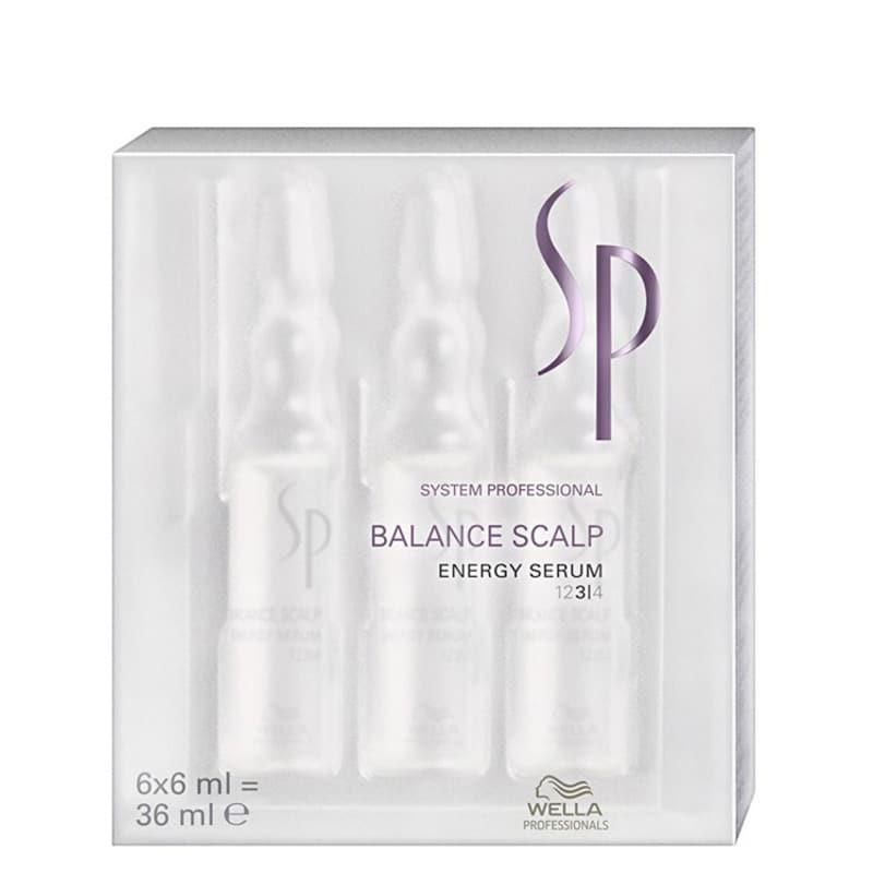 SP System Professional Balance Scalp Energy Serum - Tratamento 6x6ml