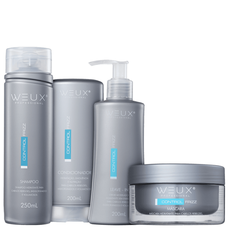Kit WEUX Professional Control Frizz Leave-in (4 Produtos)