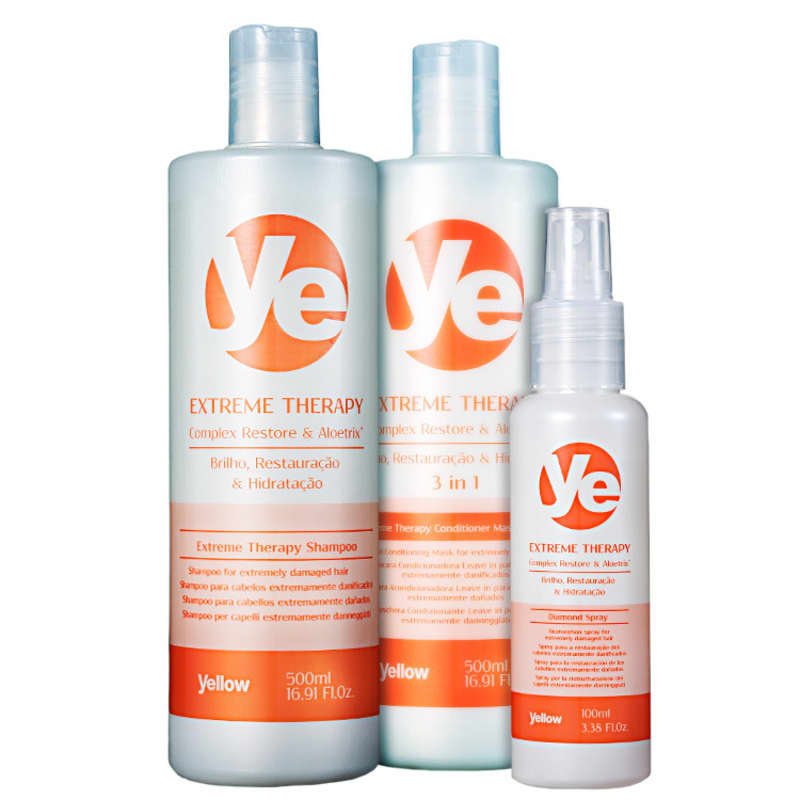 Kit Yellow Ye Extreme Therapy Restoration (3 Produtos)