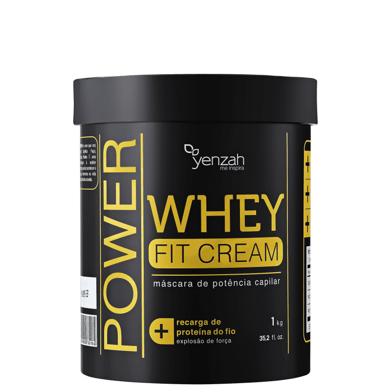 Yenzah Power Whey Fit Cream - Máscara de Reconstrução 1000g