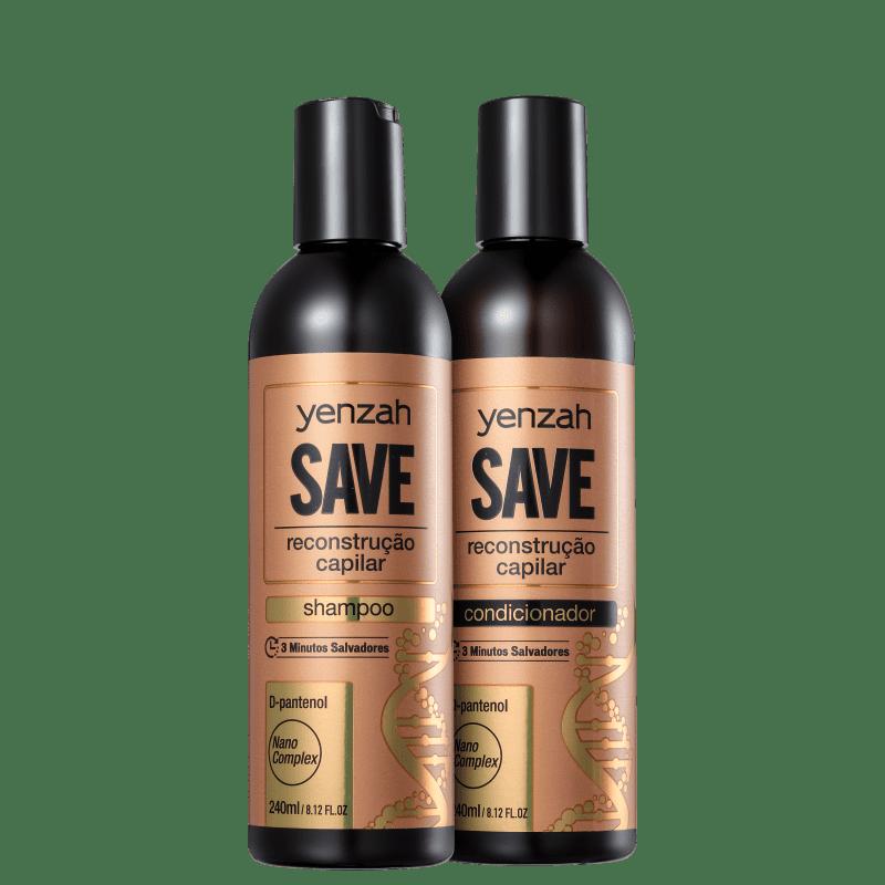 Kit Yenzah Save Reconstrução Capilar Essential (2 Produtos)
