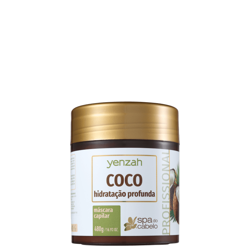 Yenzah SPA dos Cabelos Coco - Máscara Capilar 480g
