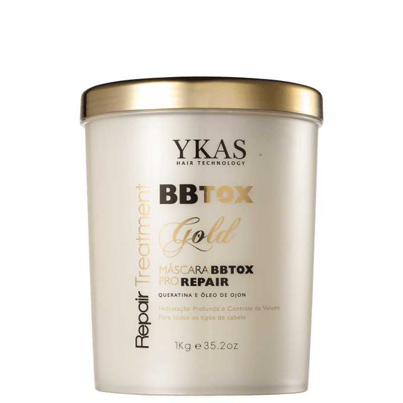 YKAS BBTox Gold Pro Repair - Máscara de Alinhamento Capilar 1000g