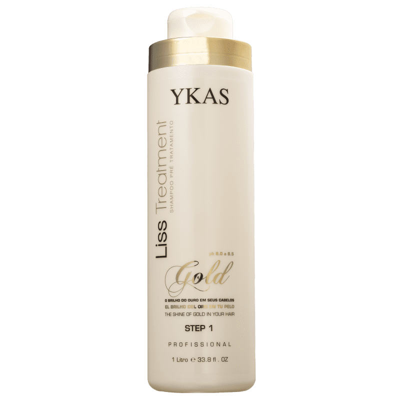 YKAS Liss Treatment Gold Step 1 - Shampoo Pré-Tratamento 1000ml