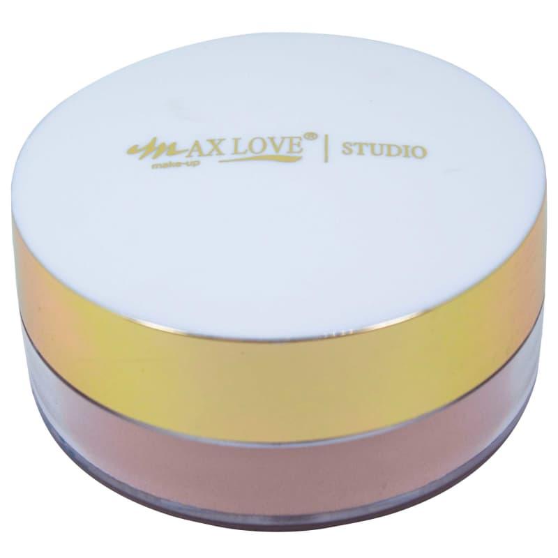 Max Love Iluminador Vegano 02 Nude - Pó solto iluminador 12g