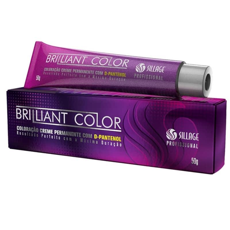 Sillage Brilliant Color 6/71 Louro Escuro Marrom Acinzentado - Coloração Permanente 50g