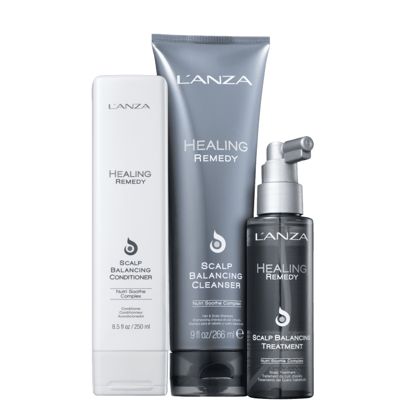 Kit L'Anza Healing Remedy Scalp Balancing Cleanser de Tratamento (3 Produtos)