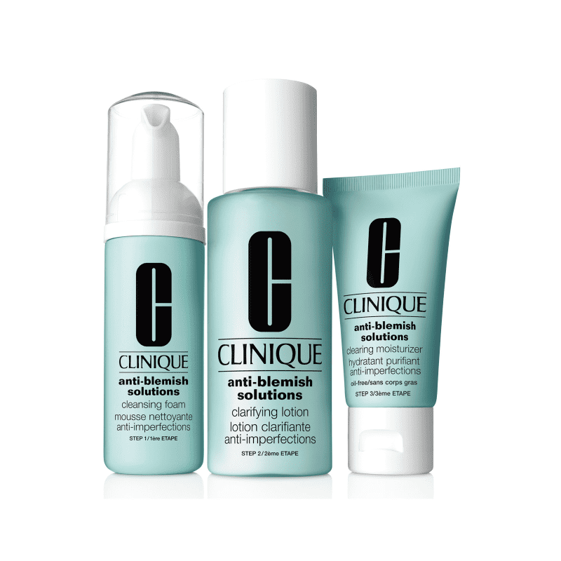 Kit Clinique Anti-Blemish Solutions Clear Clarifying (3 produtos)