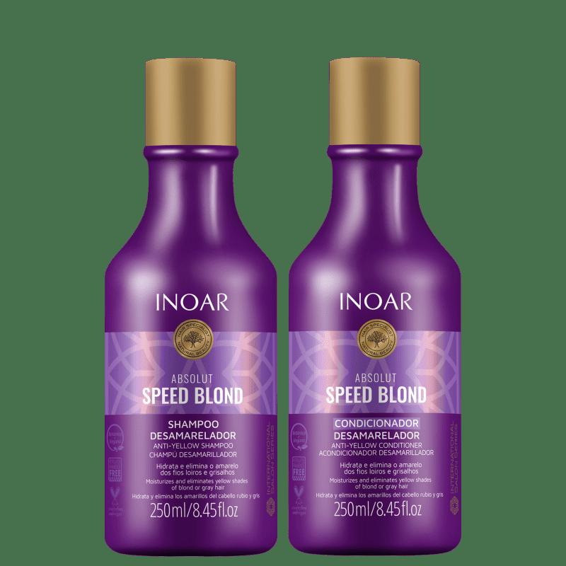 Kit Inoar Absolut Speed Blond Duo Violet (2 Produtos)